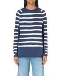 M.i.h Jeans | Blue Striped Wool Jumper | Lyst