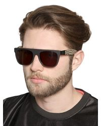 Retrosuperfuture - Metallic Flat Top Gianni Pompei Sunglasses for Men - Lyst