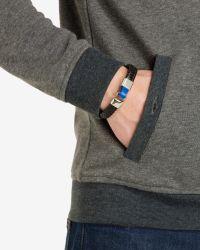 Ted Baker   Black Flat Weave Leather Bracelet for Men   Lyst