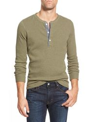Bonobos | Green Long Sleeve Waffle Knit Henley for Men | Lyst