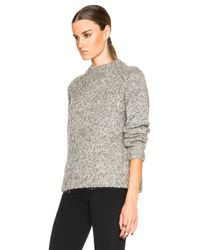 James Perse - Gray Stand Up Collar Sweater - Lyst