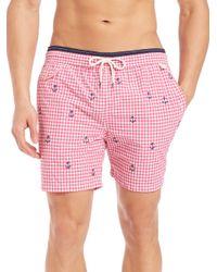 Polo Ralph Lauren - Pink Gingham Traveler Swim Shorts for Men - Lyst