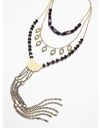 Free People | Purple Womens Chain Ladder Necklace | Lyst