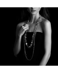 David Yurman - Black Signature Oval Ring With Diamonds - Lyst