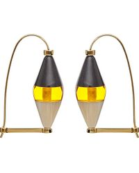 Marni - Metallic Horn And Brass Earrings - Lyst