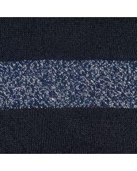 Paul Smith - Blue Women's Sheer Black And Glittery Navy Striped Socks - Lyst