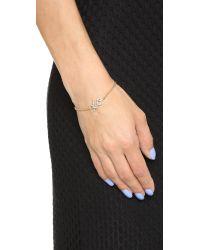 kate spade new york - Metallic Xo Bracelet - Clear - Lyst