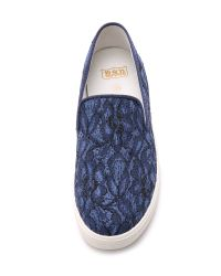 Ash - Blue Illusion Lace Slip On Sneakers - Indigo - Lyst