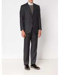 Canali - Gray Tonal Check Suit for Men - Lyst