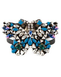 Shourouk - Black Embellished Butterfly Bracelet - Lyst