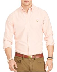 Polo Ralph Lauren | Orange Oxford Classic Fit Button Down Shirt for Men | Lyst