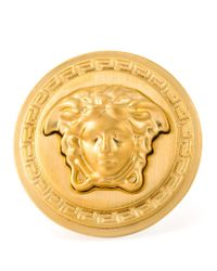 Versace | Metallic Medusa Sovereign Ring | Lyst