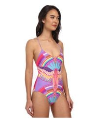 Mara Hoffman | Purple Reversible Lace-Up Maillot | Lyst