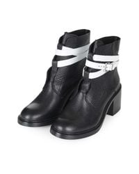 TOPSHOP | Black Mitchell Ankle Boots | Lyst