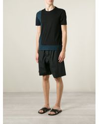 Marni - Black Wide Leg Shorts for Men - Lyst