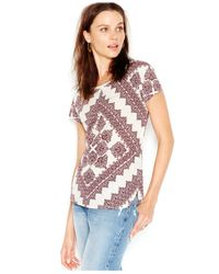 Lucky Brand | Red Lucky Brand Short-sleeve Printed Tee | Lyst