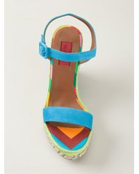 Valentino - Blue 1973 Wedge Sandals - Lyst