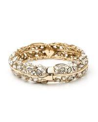 Alexis Bittar - Metallic Gold Liquid Crystal Hinge Bracelet - Lyst