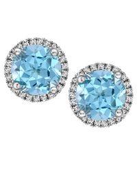 Kiki McDonough | Grace 18k Gold Blue Topaz & Diamond Earrings | Lyst