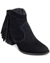 Marc Fisher - Black Sade Ankle Booties - Lyst