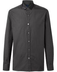 Lanvin - Brown Satin Collar Shirt for Men - Lyst