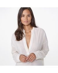 James Perse | White Chiffon Pullover Tunic | Lyst