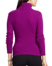 Lauren by Ralph Lauren | Purple Wool And Cashmere Turtleneck | Lyst