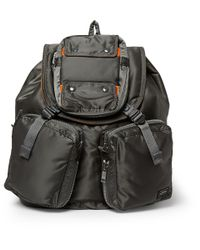 Lyst - Porter Tanker Quilted Satin-Canvas Backpack in Metallic for Men 88c2faf990eed