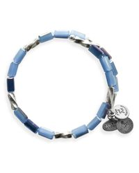 ALEX AND ANI - Blue Vintage 66 Allure Wrap Bangle - Lyst