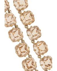 J.Crew | Metallic In The Round Goldplated Crystal Necklace | Lyst