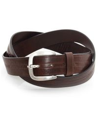 Armani Jeans | Brown Leather Logo Belt for Men | Lyst