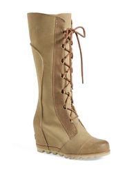 Sorel - Brown 'Cate The Great' Waterproof Wedge Boot - Lyst
