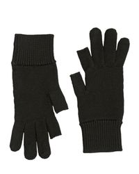 Rick Owens | Blue Knitted Wool Gloves | Lyst