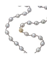Jordan Alexander | Gray Silver Freshwater Pearl Necklace | Lyst