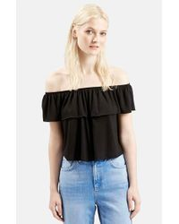 TOPSHOP | White Off The Shoulder Top | Lyst