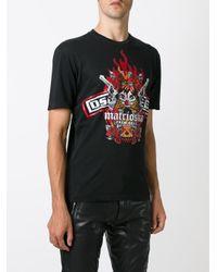 DSquared² | Black Marioska-Print T-Shirt for Men | Lyst