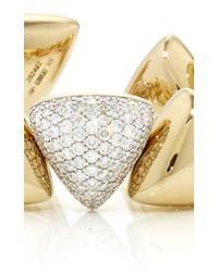 Vhernier - Metallic Freccia Pave White Gold Bracelet - Lyst