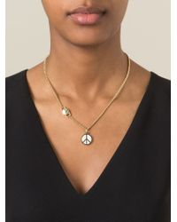 Marc By Marc Jacobs - Metallic Peace Sign Chain Necklace - Lyst