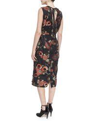 Marc Jacobs - Black Floral-print Sequined Dress - Lyst
