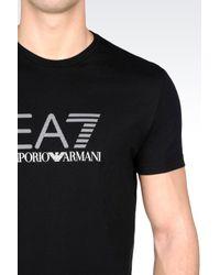 EA7 | Black T-shirt In Cotton Jersey for Men | Lyst