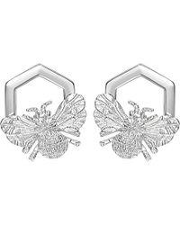 Theo Fennell | Metallic Alias Sterling Silver Humblebee Earrings | Lyst