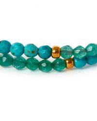 Tai - Blue Turquoise Pom-pom Stone Beaded Bracelet - Lyst