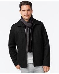 Calvin Klein | Black Men's Melton Jacket for Men | Lyst