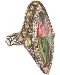 Sevan Biçakci - White Tulip Intaglio Ring - Lyst