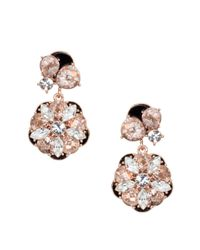 kate spade new york - Pink Fame And Flowers Statement Earrings - Lyst