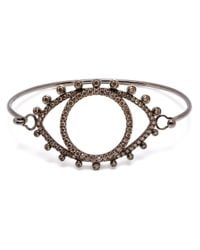 Rosa De La Cruz | Metallic 18kt Oxidised Gold And Brown Diamond Eye Bracelet | Lyst