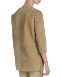 Givenchy - Natural Suede V-neck Tunic - Lyst