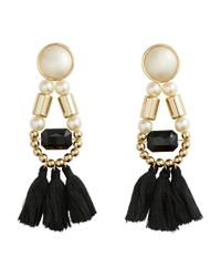 H&M Black Earrings With Tassels