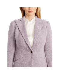 Ralph Lauren - Purple Single-button Wool Jacket - Lyst