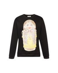 Natasha Zinko - Black Matryoshka Printed Sweatshirt - Lyst